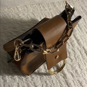 Brand new ALDO brown and gold chain mini purse